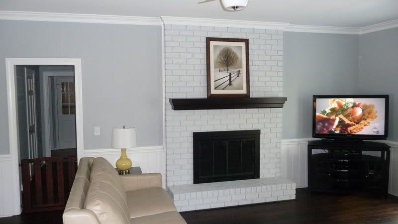 Painted Brick Fireplace White Brick Fireplace White Wash Brick Fireplace Brick Fireplace