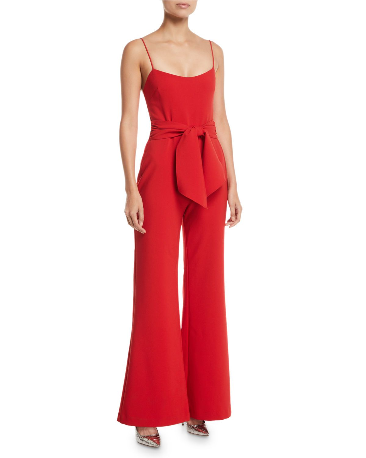 b09a4e53a358 Genevieve Wide-Leg Tie-Front Jumpsuit in 2018