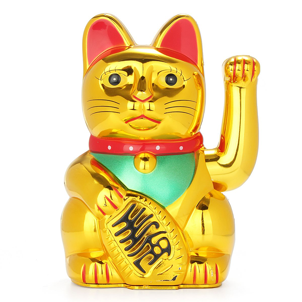 6 Chinese Lucky Waving Hand Maneki Neko Gold Fortune Feng
