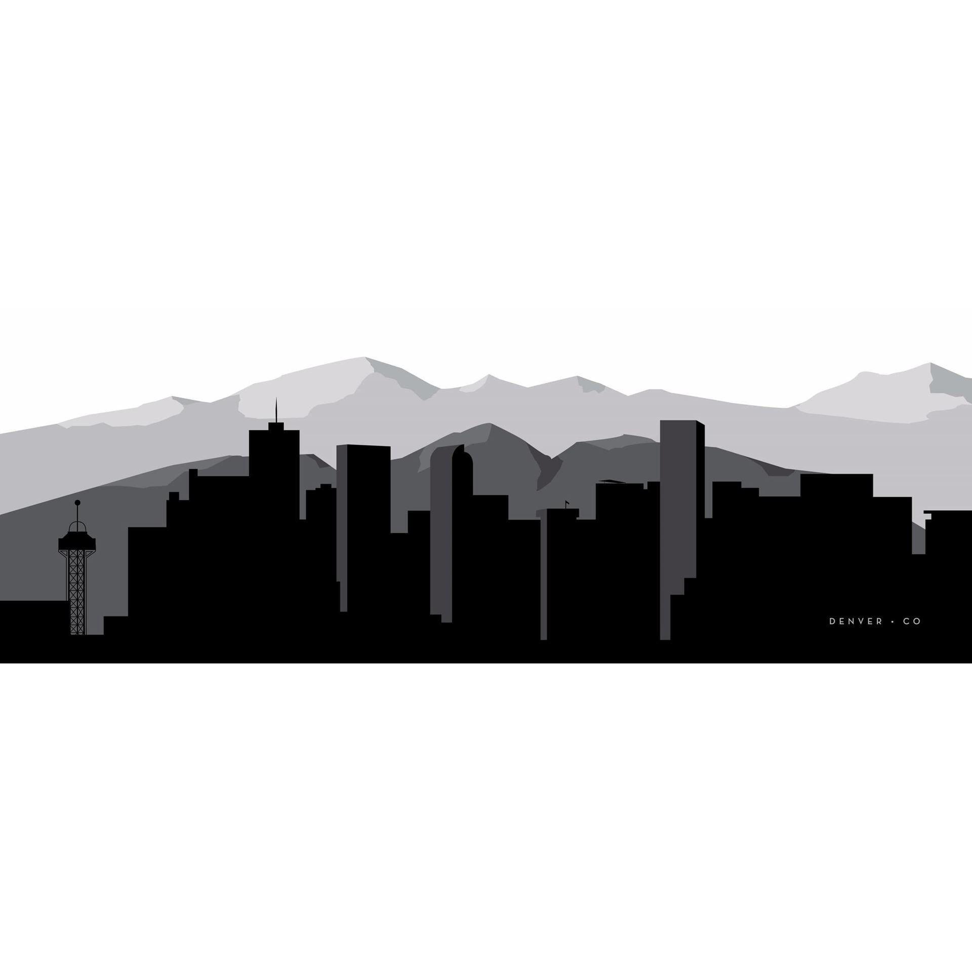 Denver graphic skyline 60x20 d in 2020 denver skyline