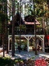 Embrace the art of slow living Shop the Treehouse Retreat  Embrace the art of slow living  Clever bicycle elevator used to get up to this cozy treehouse Via cabinporn Tin...