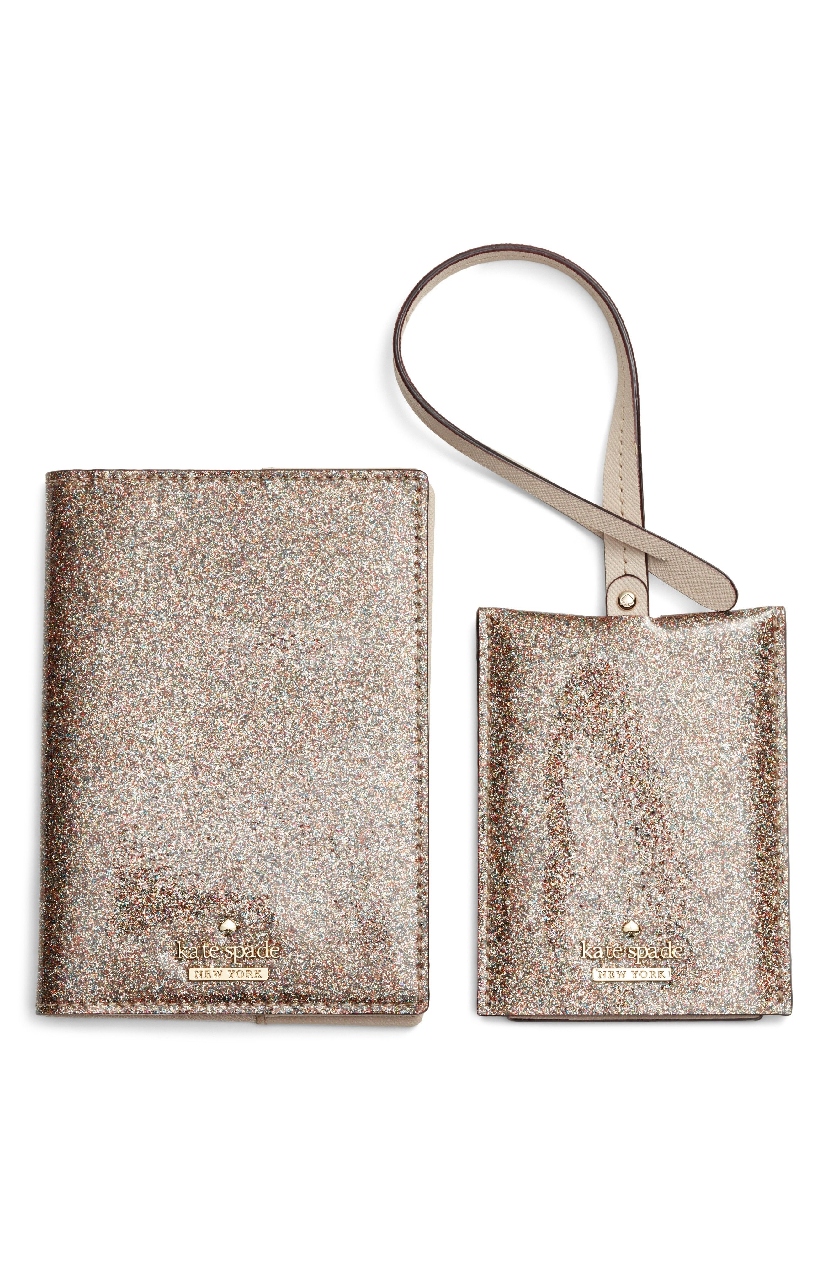 a4408d24466e kate spade leather passport case & luggage tag set   Happily Ever ...
