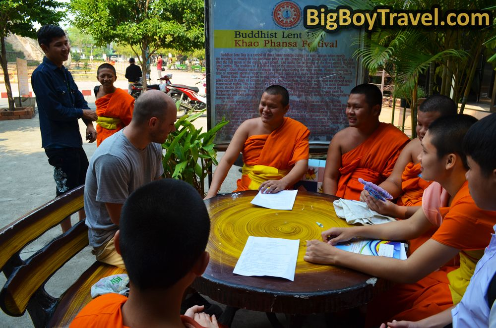 Our Monk Chat at Wat Chedi Luang in Chiang Mai. Watch us