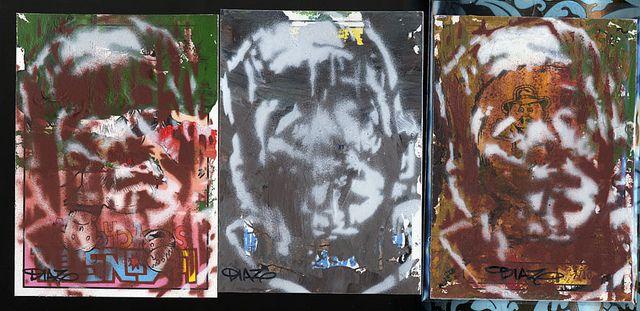 Stenciled Frankenstein Art Cards(Creatura 8) | Flickr - Photo Sharing!