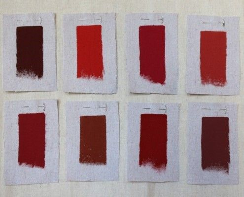 Top Row Left To Right Benjamin Moore Cottage Red Benjamin Moore Million Dollar Red Farrow Ball House Paint Exterior Red Paint Colors Painted Front Doors