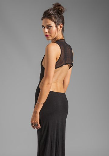 Pencey Standard, Olympic Mesh Cut Out Dress in Black.  136.00
