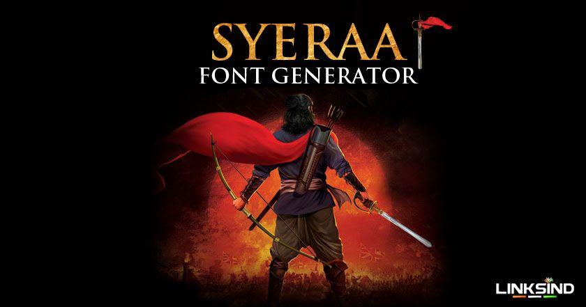 Generate sye raa narasimha reddy movie font style with