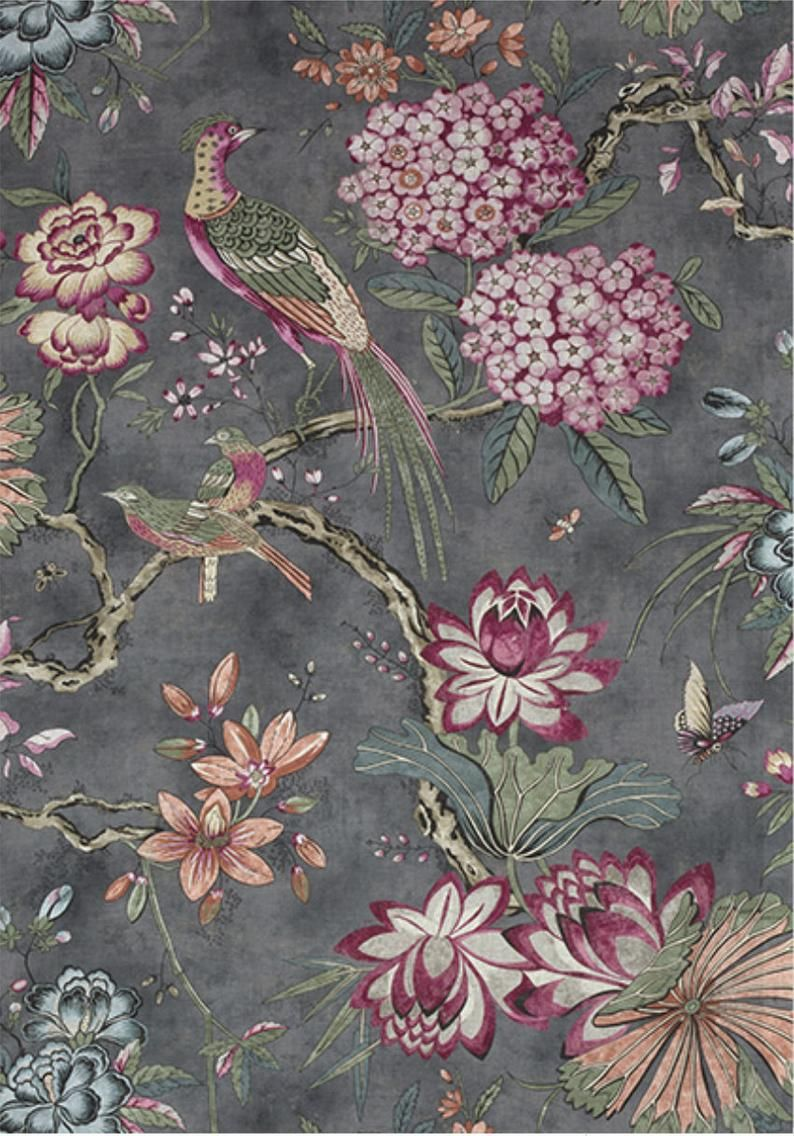 Dark Gray And Pink Curtains Thibaut Curtains Custom Curtain Panels