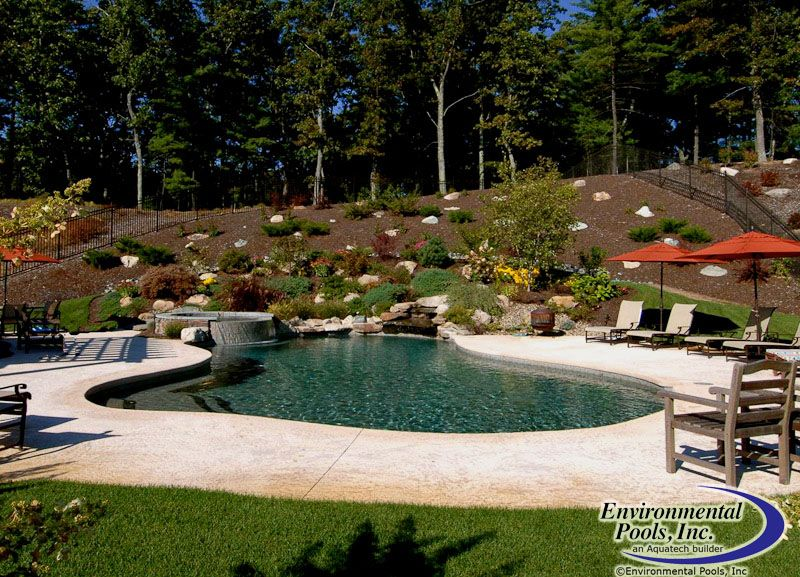 Pool Built Into Hill www.environmentalpools.com | Backyard ...