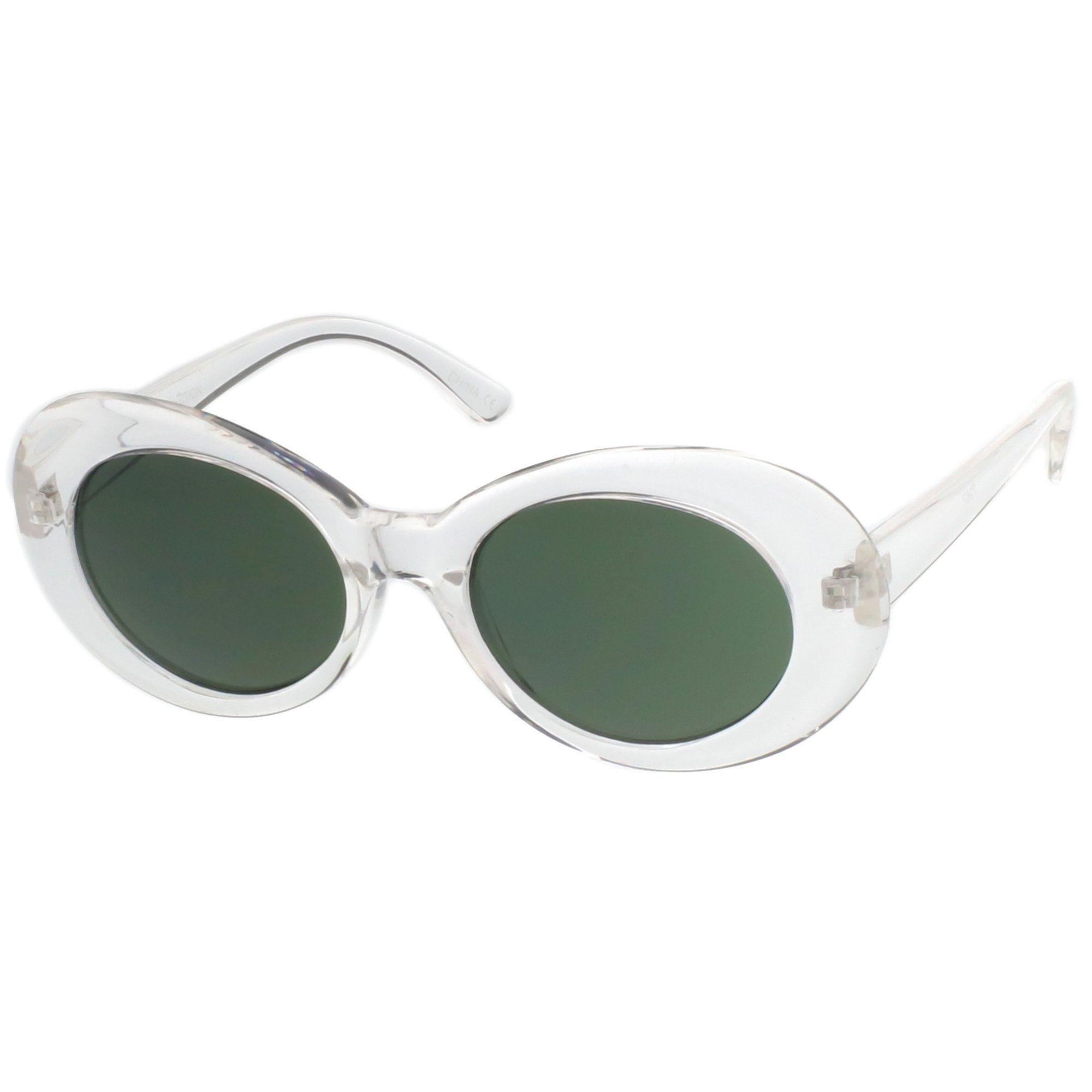 Retro 1990 S Fashion Oval Clout Goggle Sunglasses 51mm C381 In 2020 Sunglasses Glasses Fashion Oval Sunglasses