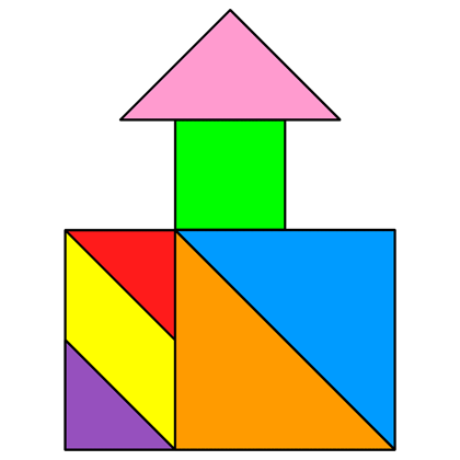 tangram well house - tangram solution #83 - providing
