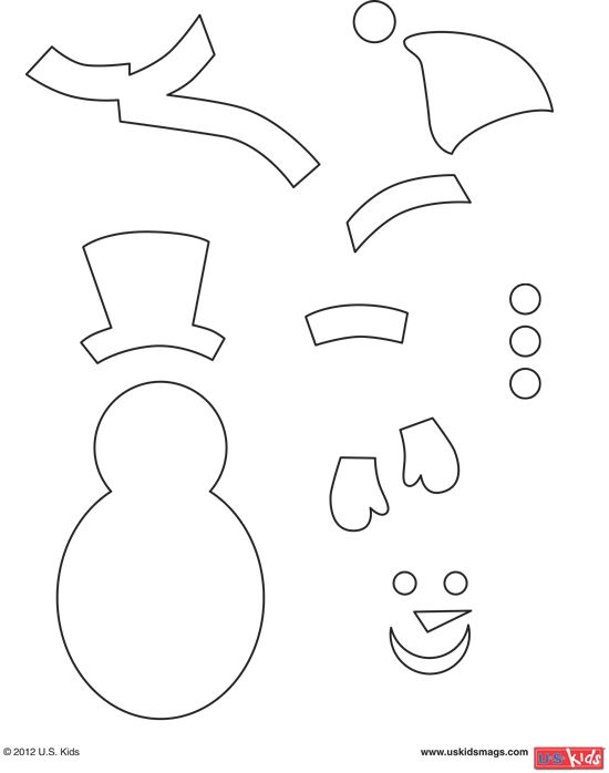 Print out these snowman pattern pieces so you can build your very