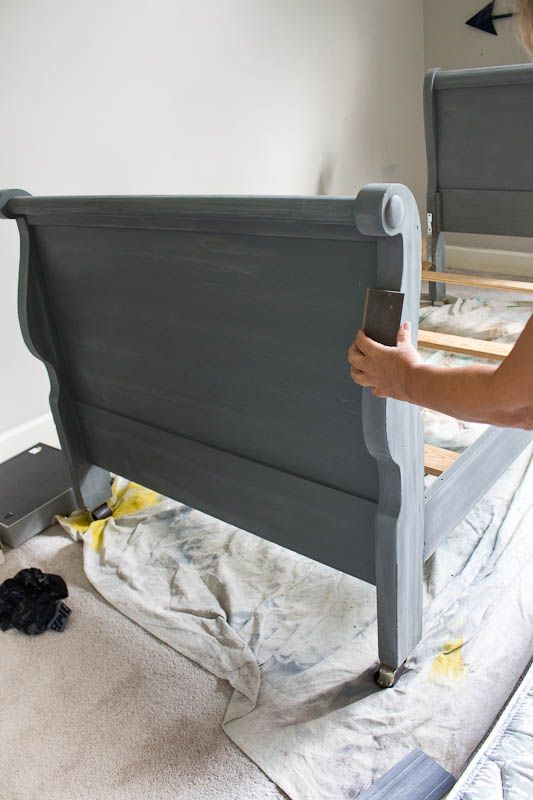 Sleigh Bed Makeover With Chalk Mix And Paint Savvy Apron