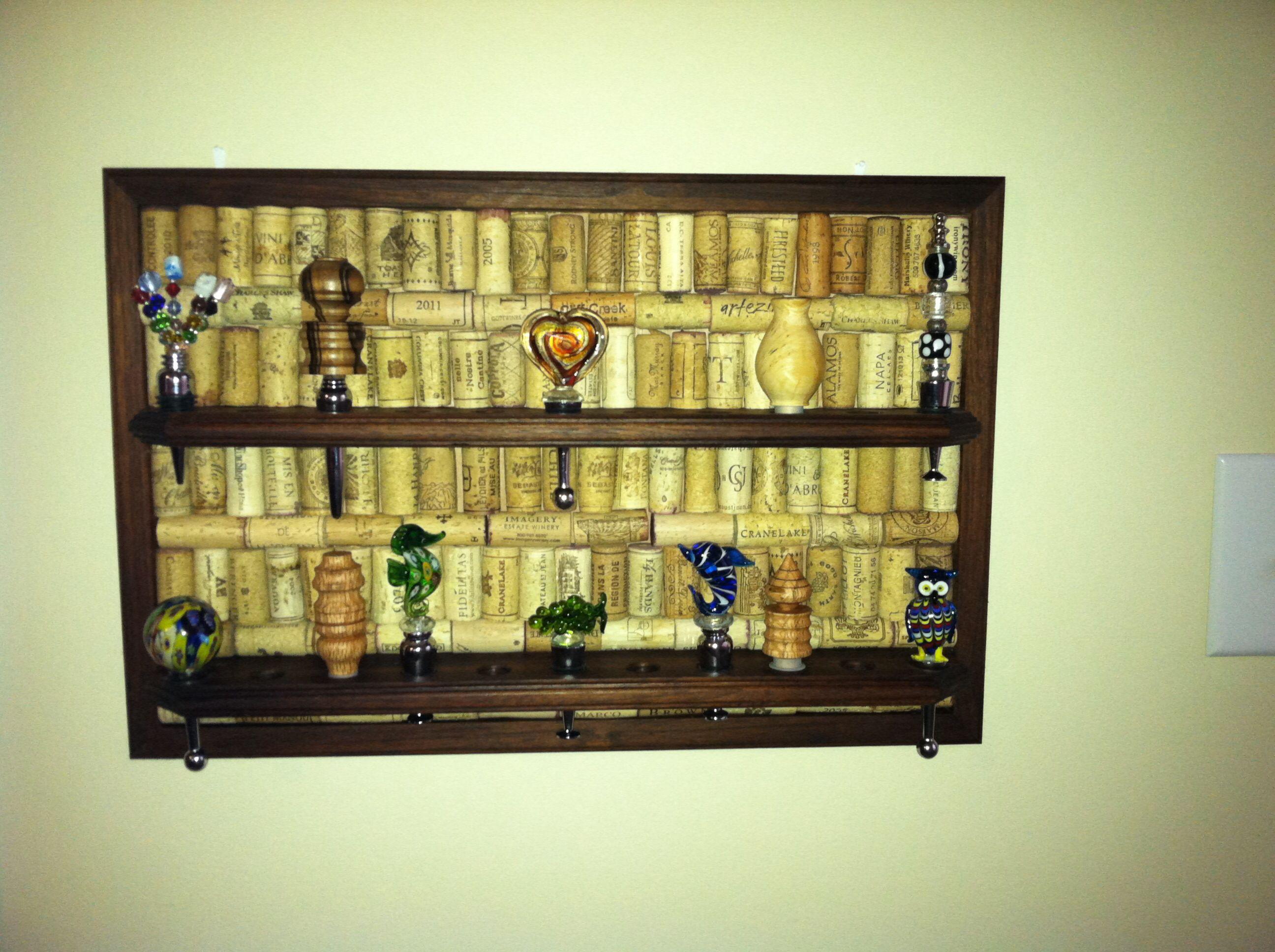 Cork board wine bottle bottle stoppers hand made   Crafts ...
