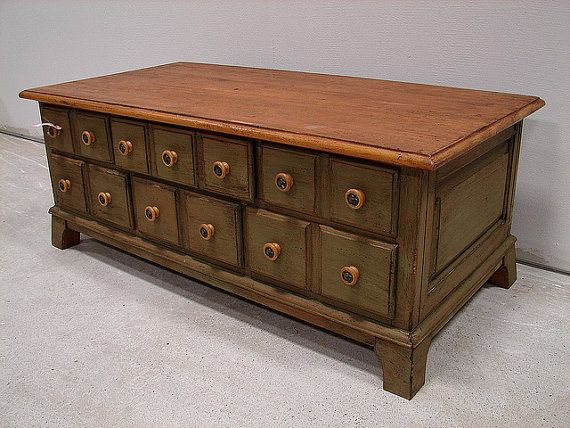 Apothecary Ducks Unlimited Coffee Table W By Blueskylanedesigner