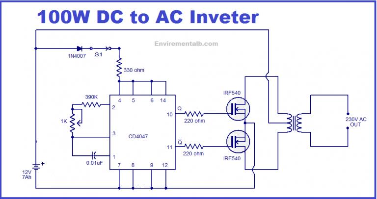 Simple 100w Inverter Circuit