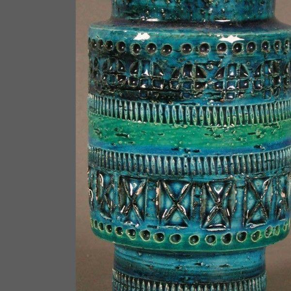 Ceramic vase. Rimini Blu. Aldo Londi. Bitossi. Italy. 1950 - 195 ...