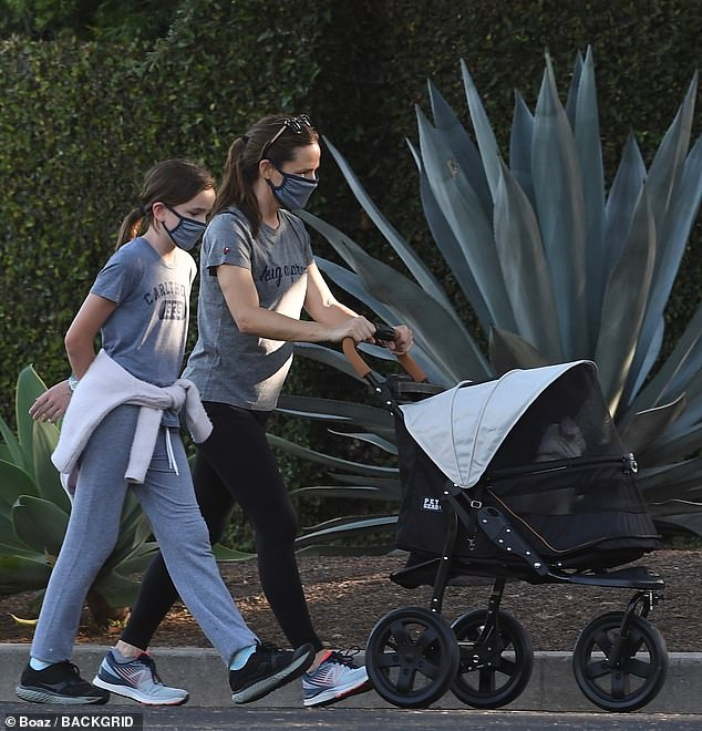 Jennifer Garner Takes Family Cat For Another Outing In Stroller Jennifer Garner Stroller Matthew Mcconaughey