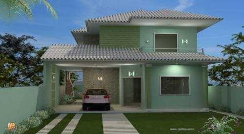 Fachadas de casas modernas com telhado colonial pinterest telhados coloniais fachadas de - Pintura casa moderna ...