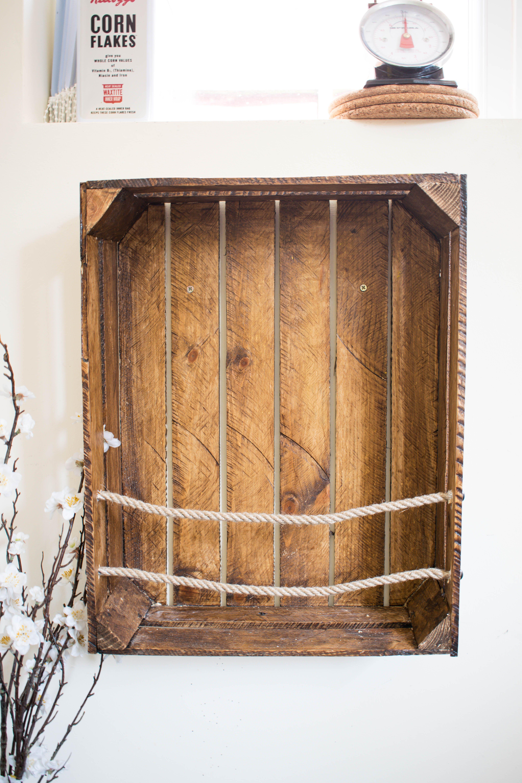 Photo of DIY-Kisten-Bücherschrank mit Seil, # DIY-Kisten-Bücherschrank #mit #Seil #Holzk …