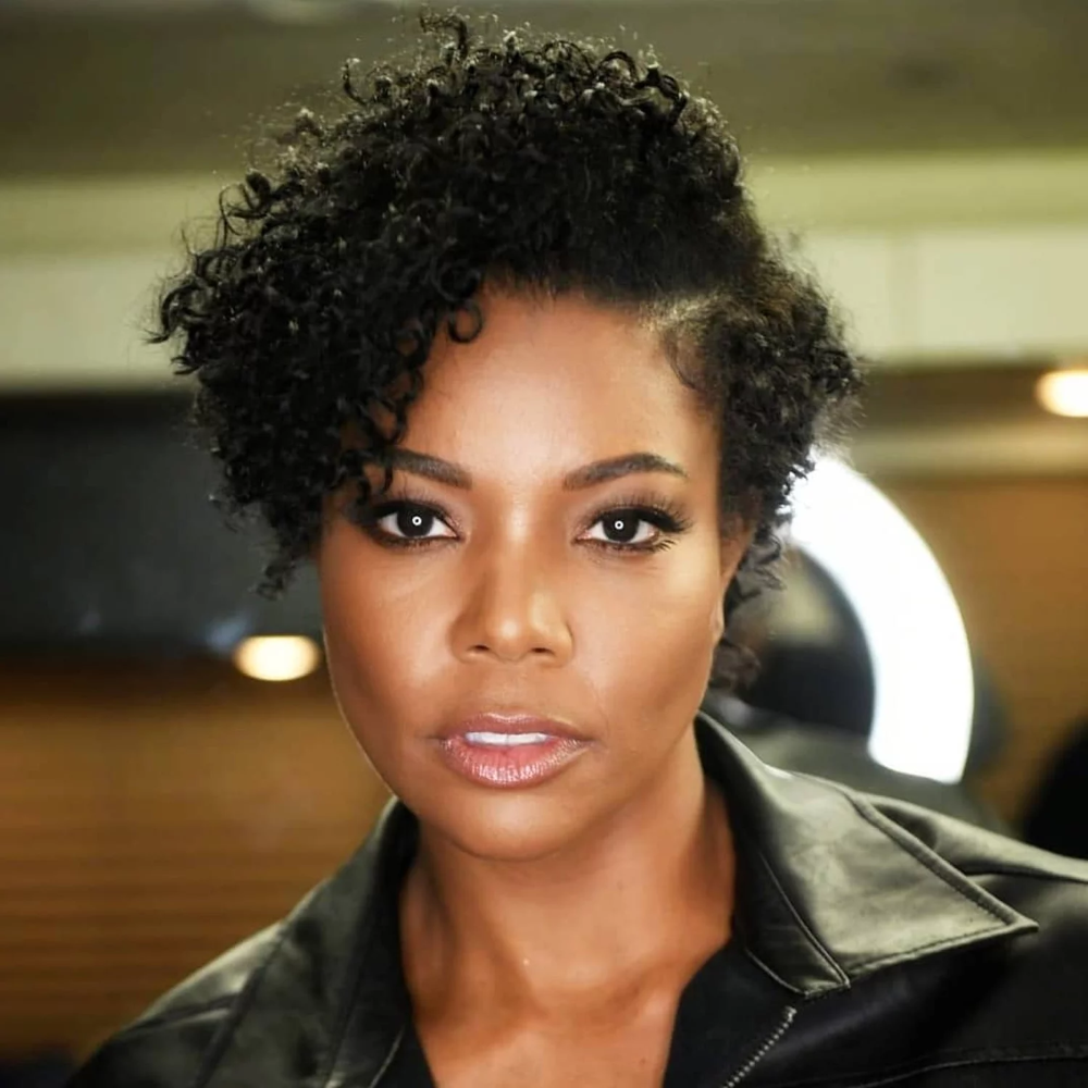 Gabrielle Union Showed Off Her Natural Curls, and