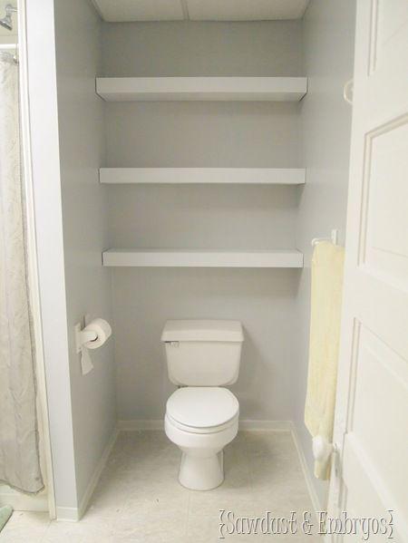 How To Build Diy Floating Shelves Bathroom Shelves Above Toilet