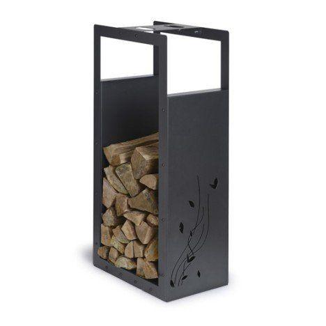 Rangement Pour Bois Acier Laqué Noir Sablé Equation H100 Cm