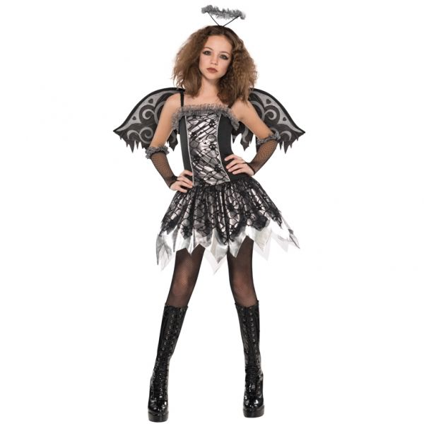 Shop for Teen Fallen Angel Costume at Totally Fancy. Our Teens Fallen Angel Costume Teens Girls Fallen Angel Costume includes: Dress, Halo, Wings, Glovelettes & Footless tights, Fast dispatch times and secure online payments through PayPal