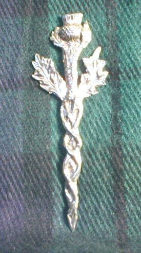 Large Thistle Kilt Pin: Renaissance Costumes, Medieval Clothing, Madrigal Costume: The Tudor Shoppe