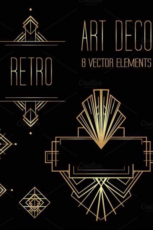 Art Deco Elements Vol 1 Art Deco Design Graphics Art Deco Tattoo Art Deco