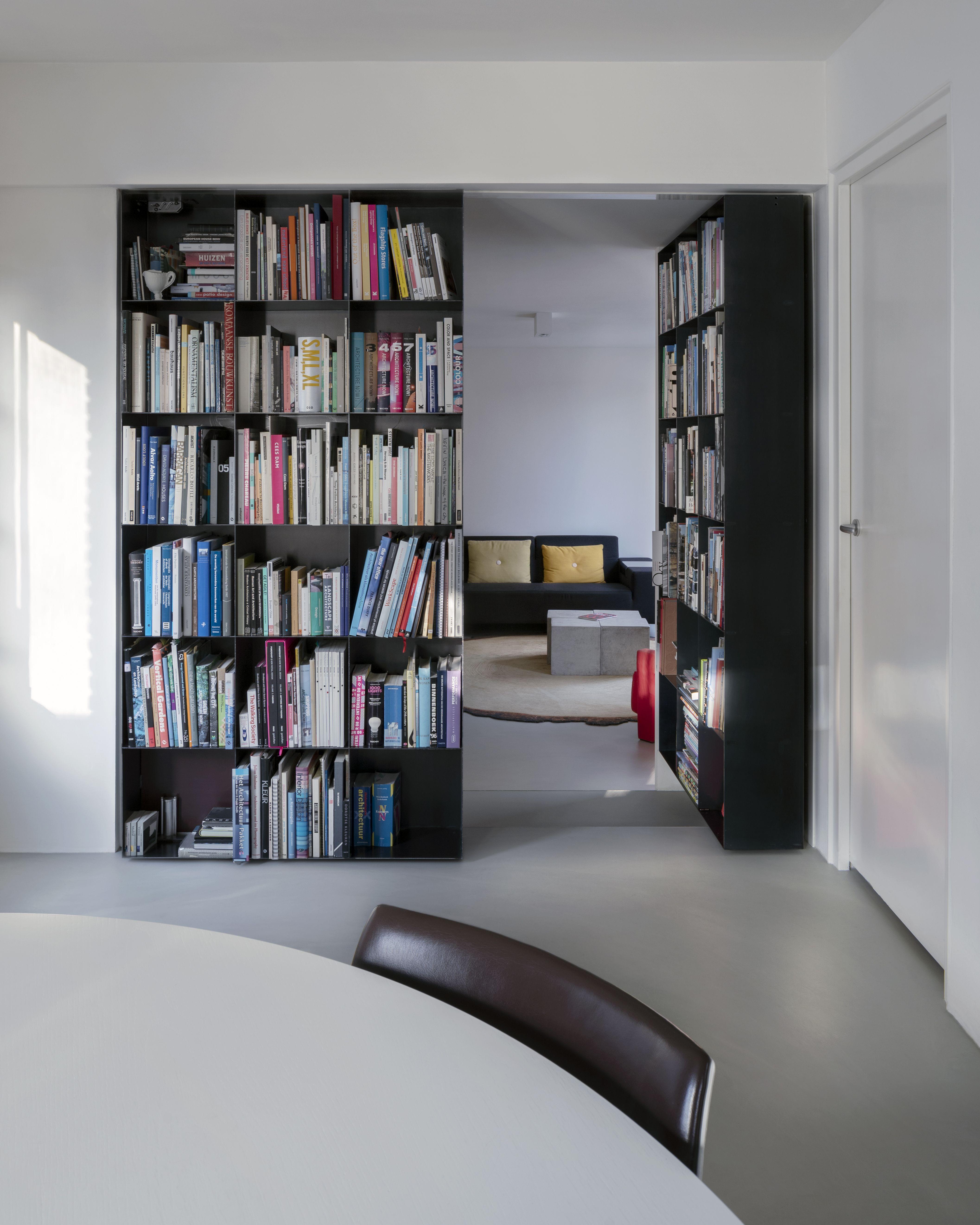 Secret Bookcase With Fritsjurgens Pivot Hinge System Right Door Opened Bookshelf Door Pivot Doors Bookcase Door