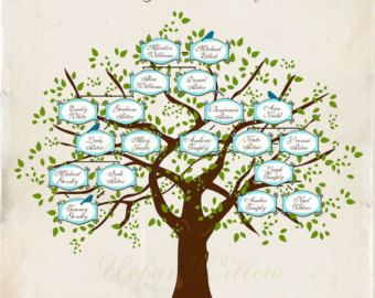 family tree 32 piece digital family heirloom tree 12 inch with 20