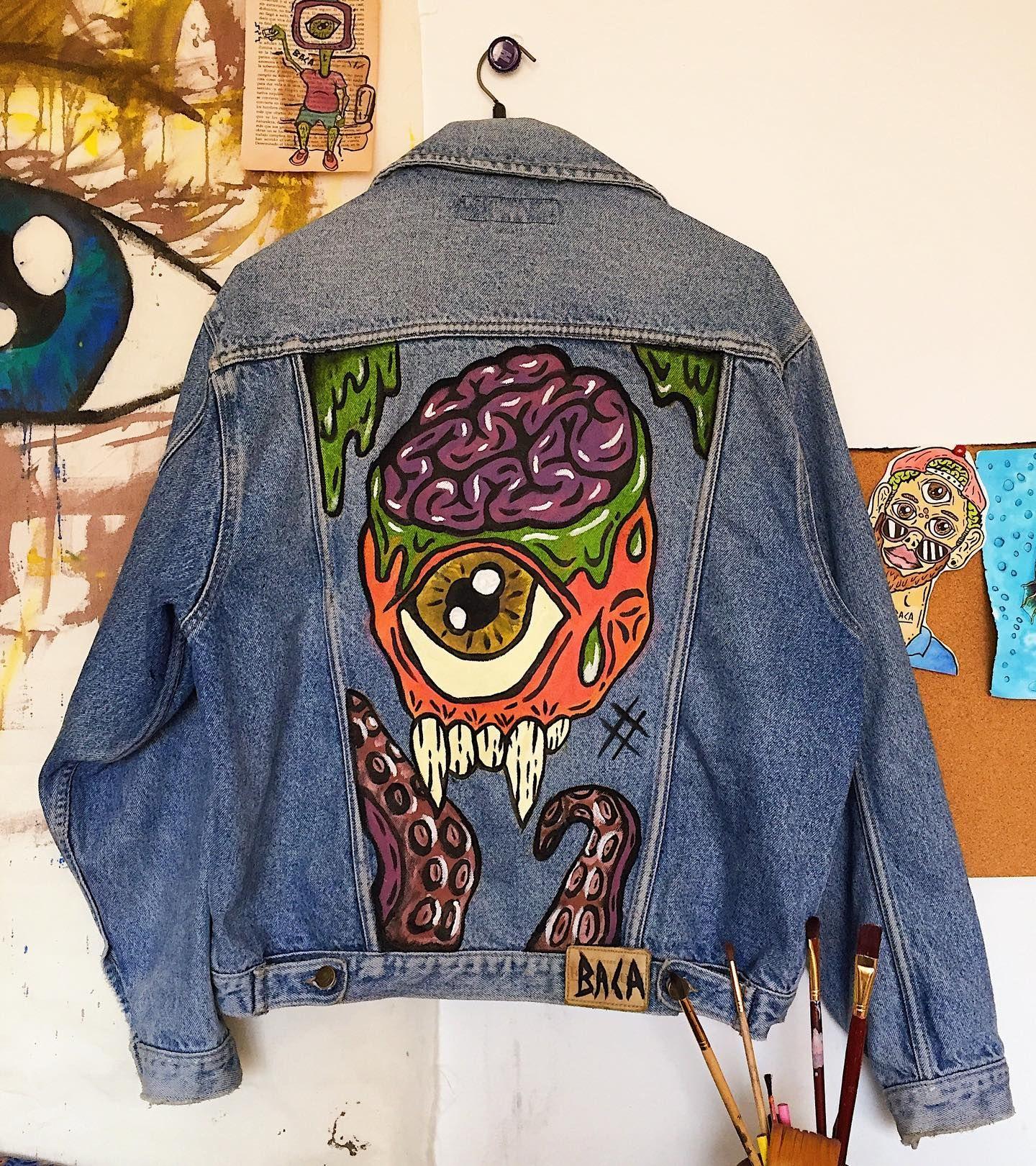 Uno de mis cerebrutos en una Denim jacket 🍂🧠hecho con amor ...