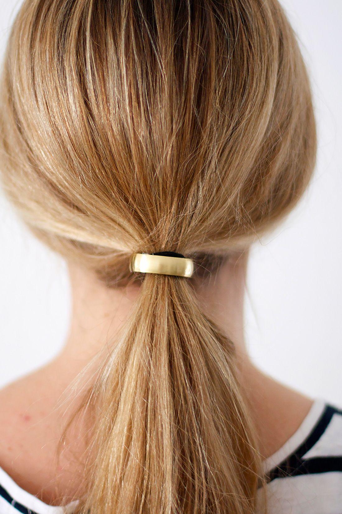 c08db270ae8 Tie One On: 2 Materials, 4 DIY Hair Cuffs via Brit + Co.   craft ...