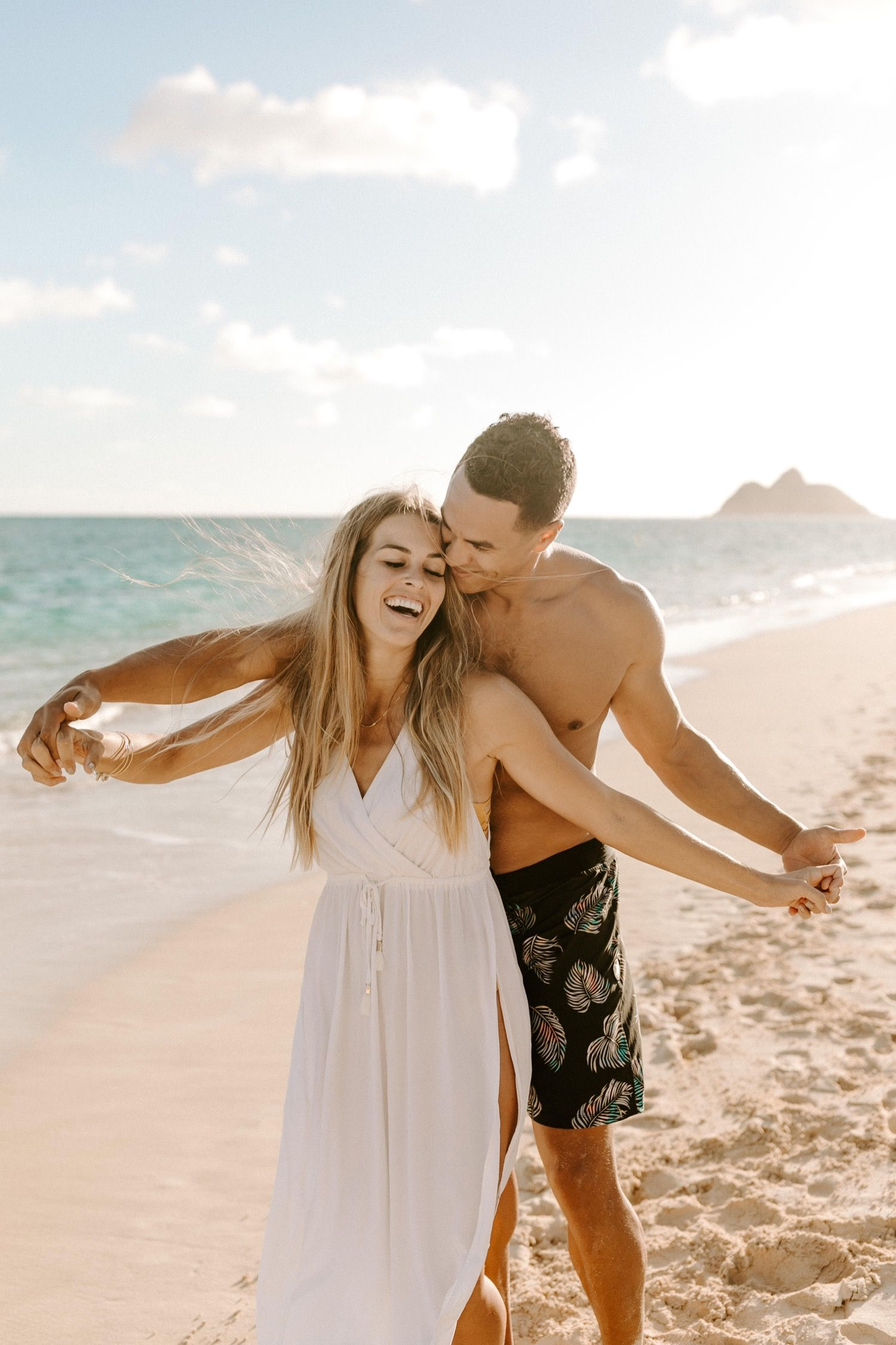 lanikai, oahu morning beach // mersadi + jay