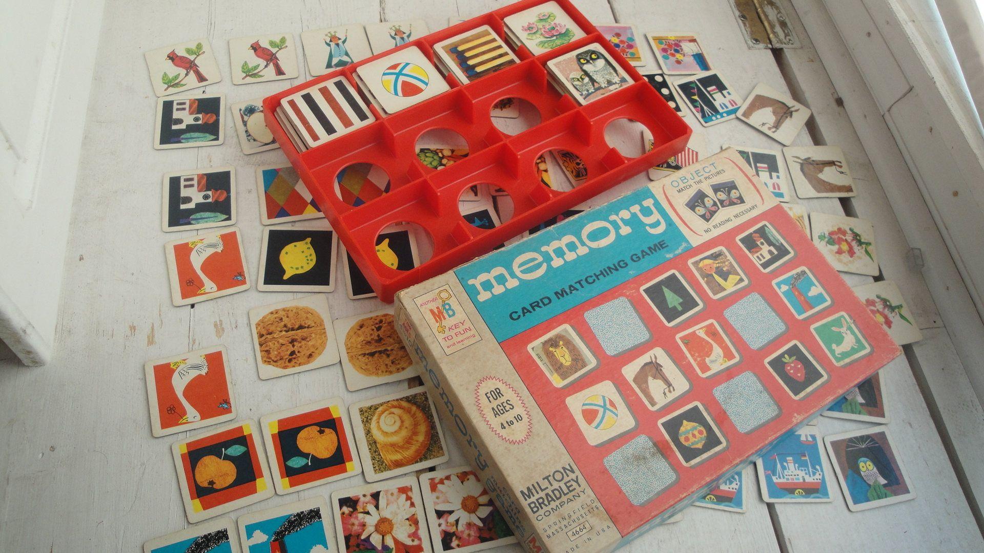 1960s Vintage Memory Card Game Milton Bradley by
