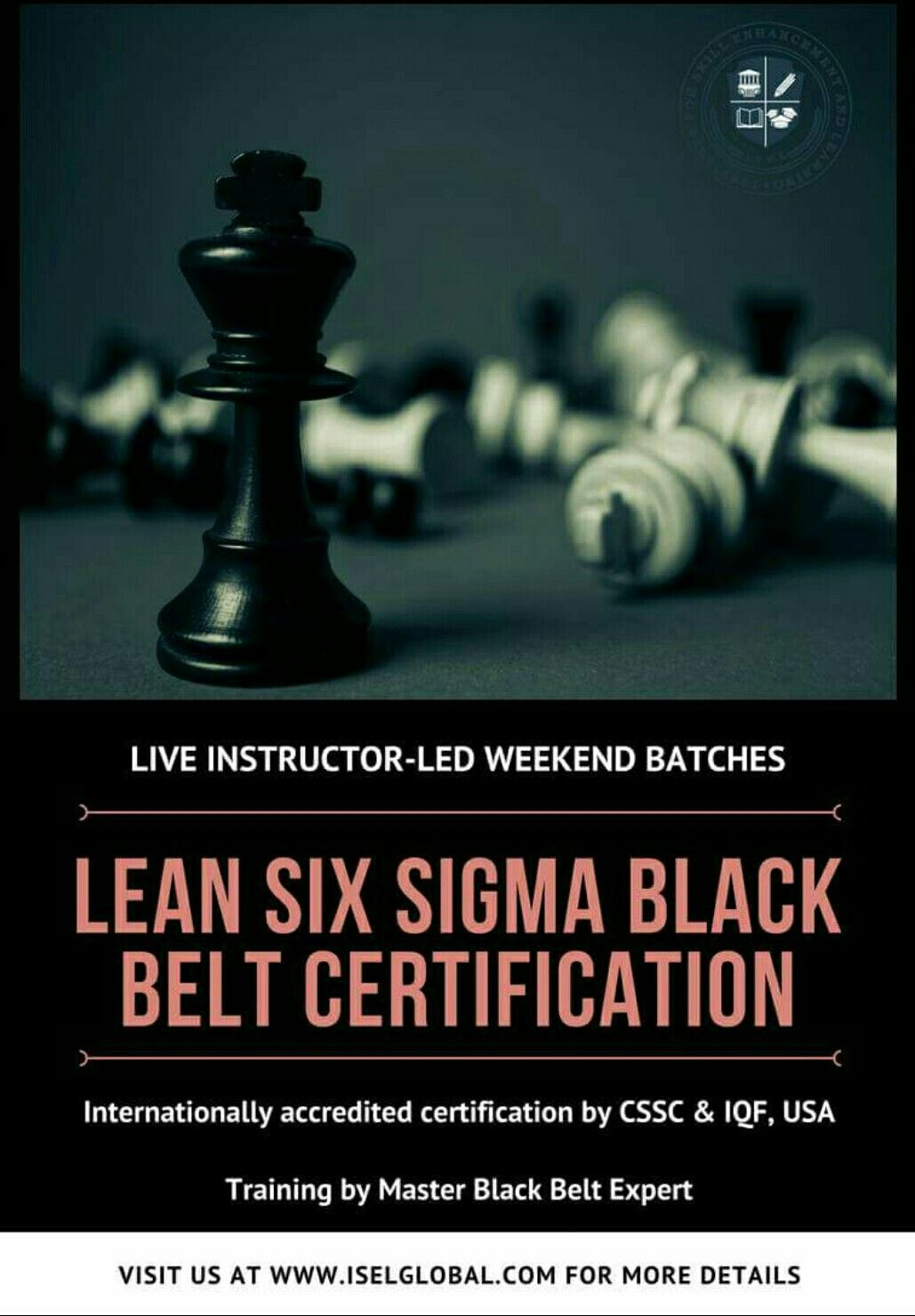 Lean Six Sigma Black Belt Training And Certification By Isel