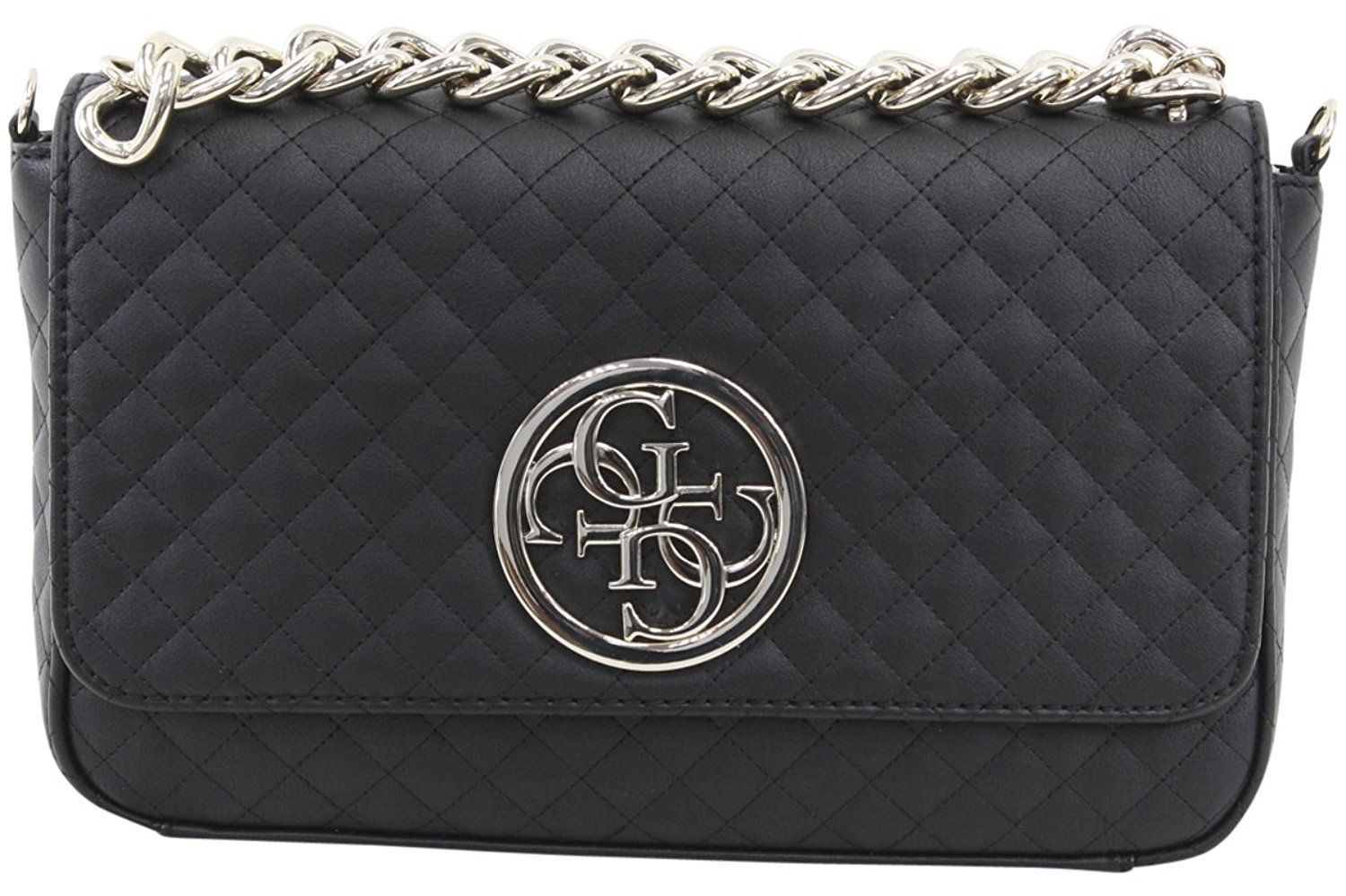 Guess Women S G Lux Quilted Man Made Leather Flap Over Crossbody Handbag