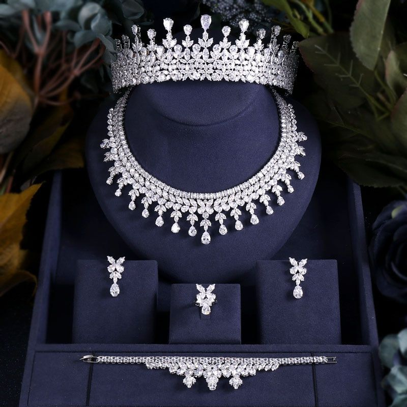 US $122.99 50% OFF|jankelly Hotsale Nigeria 2 pcs Bridal Jewelry Sets New Fashion Dubai Full Jewelry Set For Women Wedding Party Accessories Design|Jewelry Sets|   – AliExpress