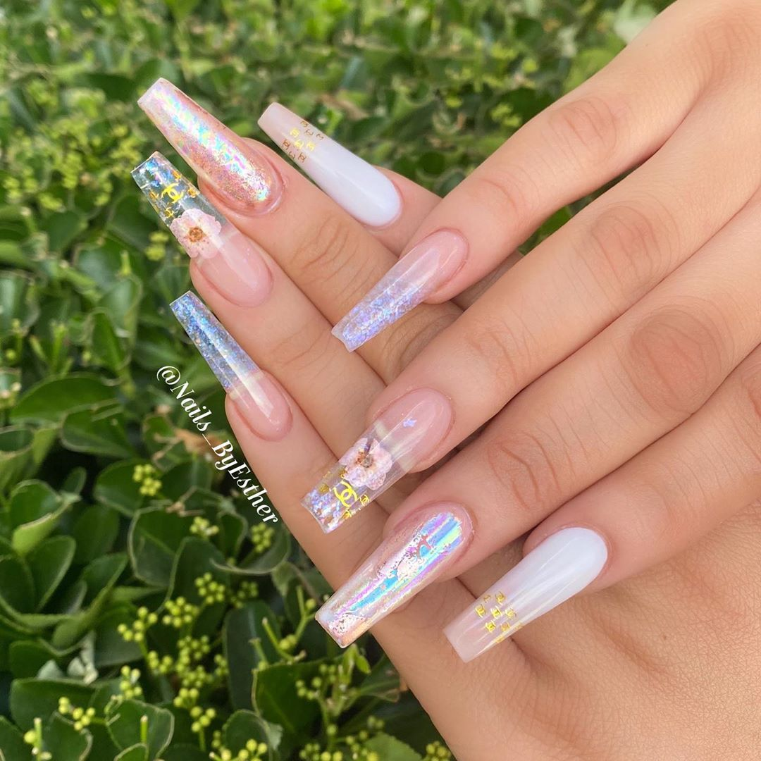 """Nails By Esther on Instagram: """"Lovely nails for a lovely client 💕  freestyles are fun 😊 #nailsoftheday #applevalley  #nailblogger #highdesertnails #nails #nailinspo…"""""""