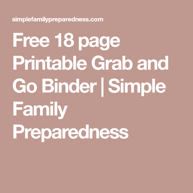 Create An Important Documents Grab And Go Binder
