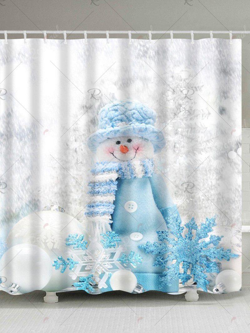 Polyester Waterproof Winter Snowman Bath Shower Curtain In 2020 Snowman Shower Curtain Shower Curtain Shower Bath