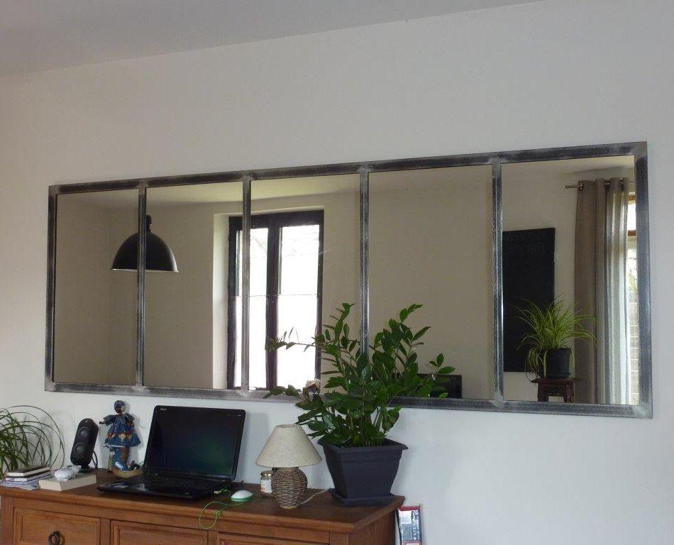 Miroir style fen tre d altier ancien home sweet home for Fenetre style verriere