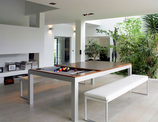 FusionTableDiningTableDoublesasaPoolTablejpg Pixels - Pool table conference table