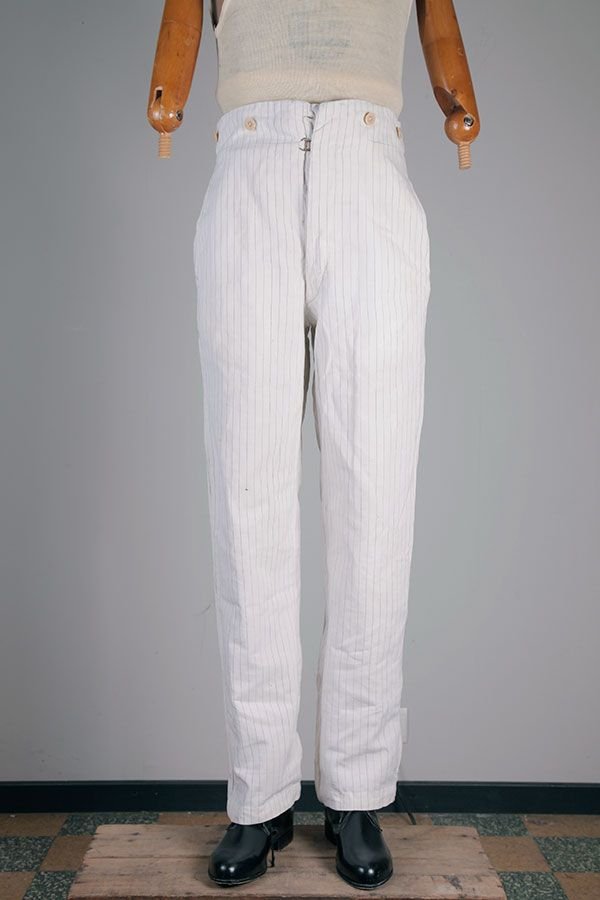 1920's french stripped summer pants
