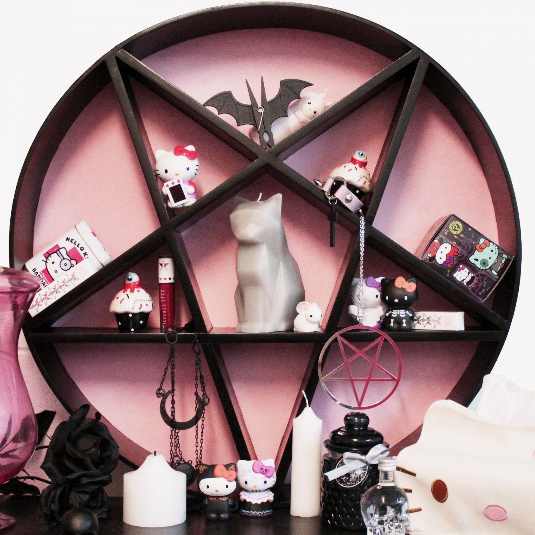 Amazing Handmade Pentagram shelf! Great for displaying