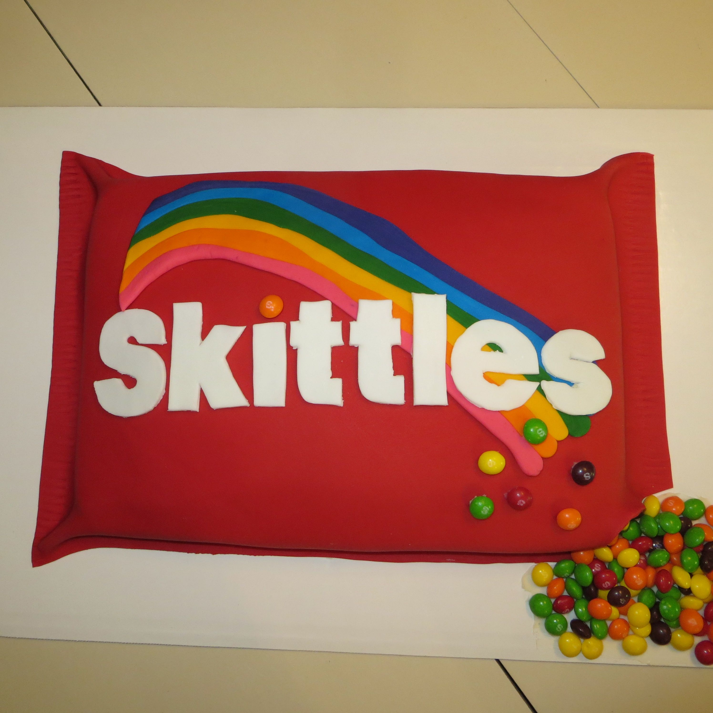 Skittles Cake For 11 Year Old Boy Who Just Loves