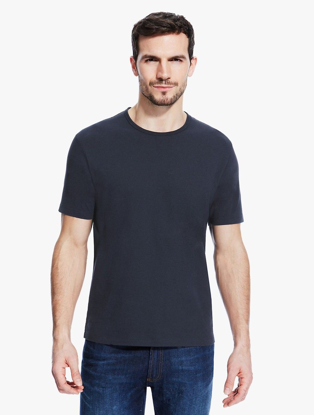 79b8a4ac897 Marks   Spencer  Tailored Fit Pure Cotton Stay Soft  T-Shirt