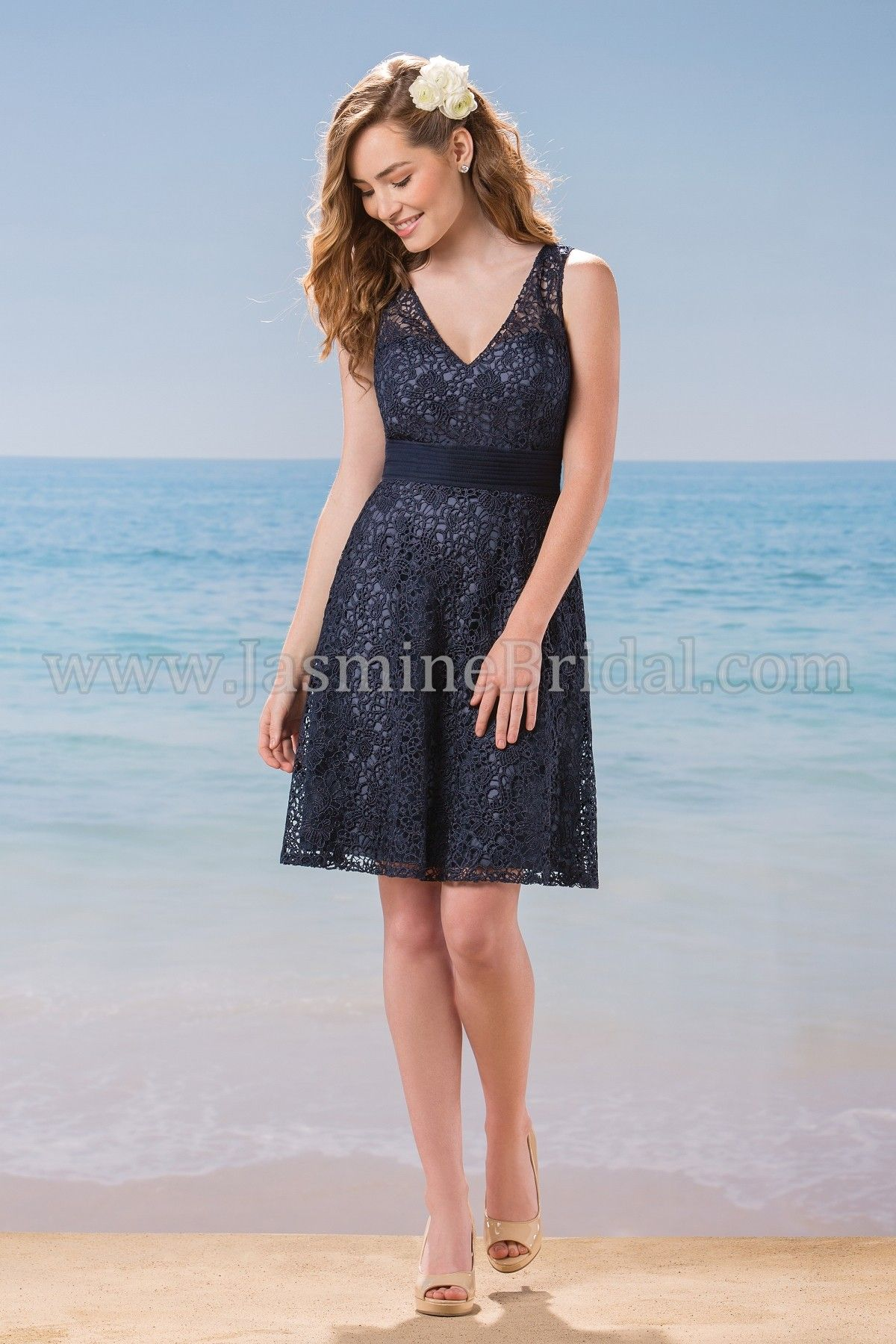 7d384c13868f Jasmine Bridal Bridesmaid Dress Belsoie Style L184019 in Navy ...