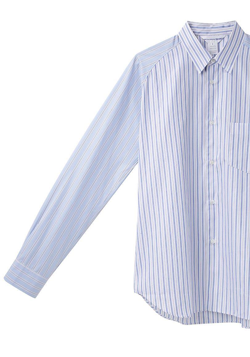 Comme des Garçons Shirt / Contrast Stripe Shirt | La Garçonne